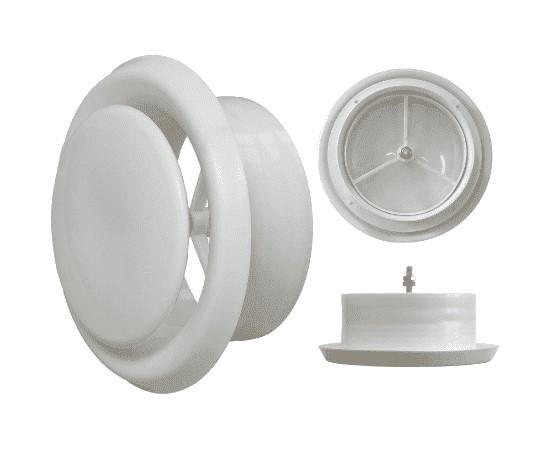 Диффузор (анемостат) универсальный, пластиковый 100